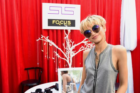 Zendaya at Grammy gift lounge