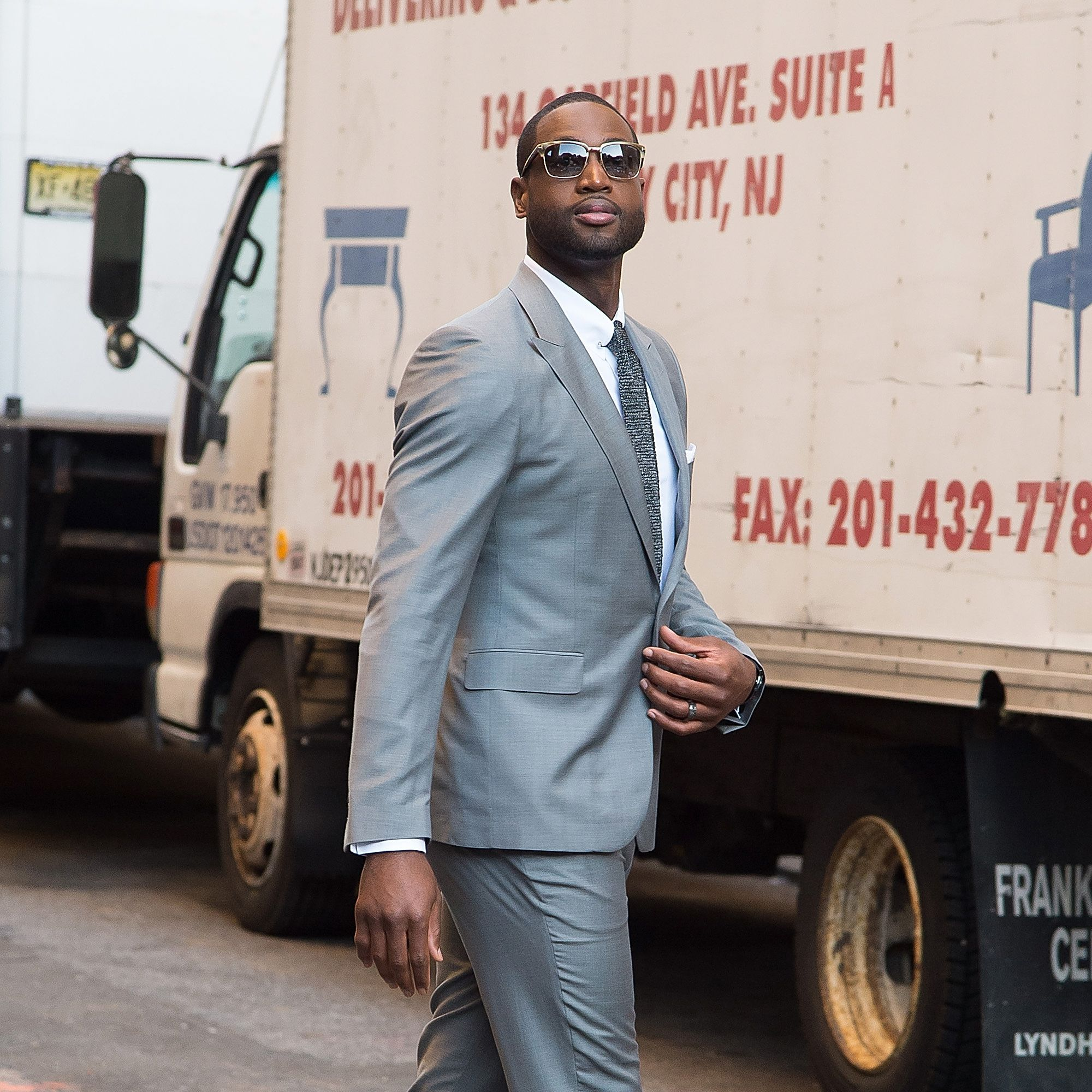 <p><strong>Team:</strong> Miami Heat</p><p><strong>Position:</strong> Guard </p><p><strong>Number:</strong> 3</p><p><strong>Style Stats:</strong> Wade masters the art of balance, pairing a  red-carpet-worthy suit (he <em>is</em> Gabrielle Union's husband, after all) with street-friendly sneakers.</p>