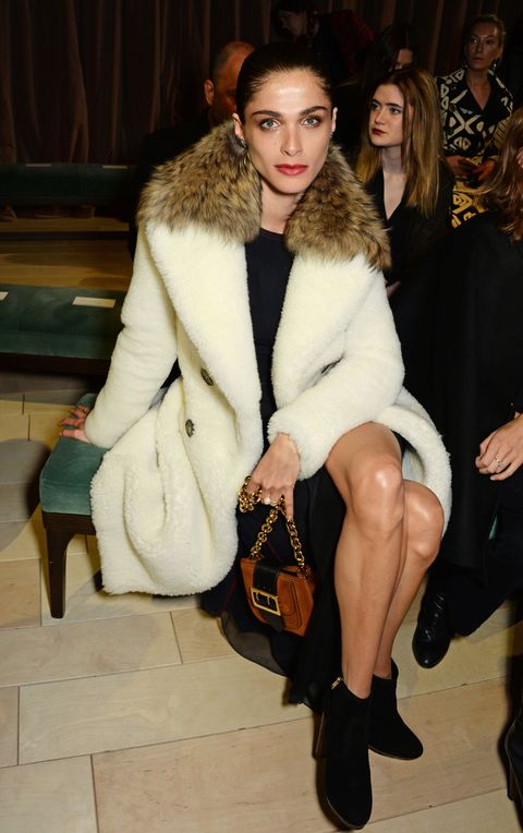 Brown, Shoe, Textile, Outerwear, Style, Natural material, Fur clothing, Fashion show, Fashion accessory, Street fashion,
