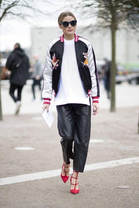 <p>Olivia Palermo has previously collaborated with shoe brand Aquazzura, and at the shows she is the poster child for the brand's red-hot heels.</p>