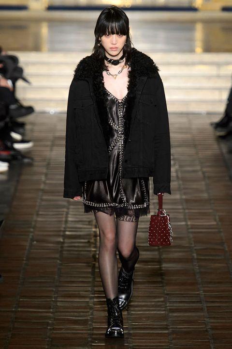 Clothing, Outerwear, Style, Street fashion, Dress, Pattern, Fashion model, Fashion, Beauty, Black,