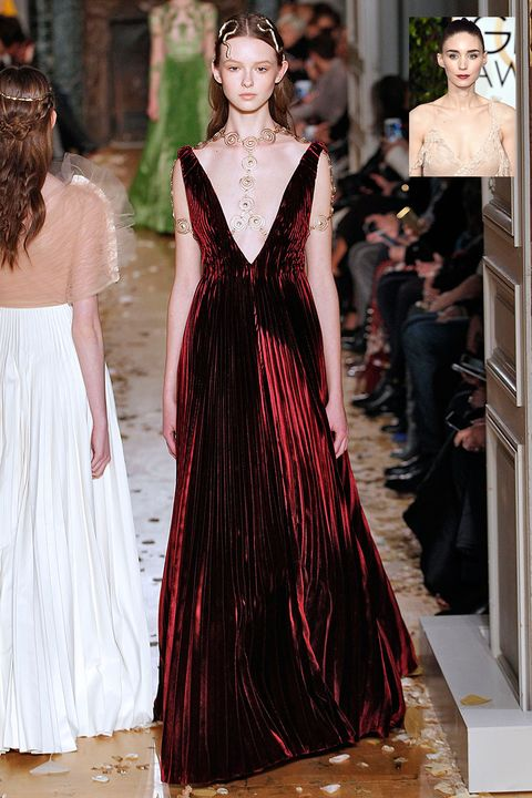 <p><strong>What:</strong> Valentino Haute Couture Spring 2016</p><p><strong>Why: </strong>This deep red velvet gown would be a departure from her usual black and white palette—but still maintains her romantic goth edge. </p>