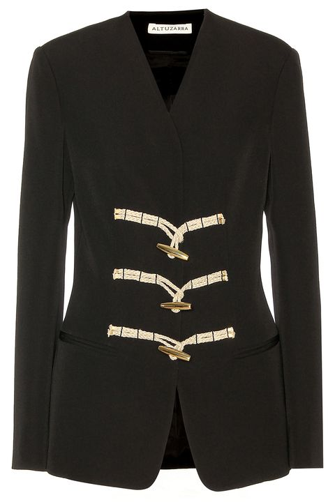 Product, Sleeve, Collar, Outerwear, White, Pattern, Fashion, Black, Blazer, Sweater,