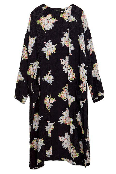 Sleeve, Textile, Pattern, Visual arts, Pattern, One-piece garment, Day dress, Fashion design, Nightwear, Button,