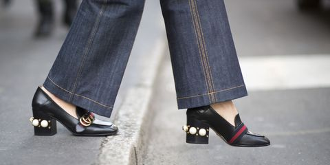 Footwear, Leg, Blue, Denim, Trousers, Human leg, Textile, Shoe, Joint, Outerwear,