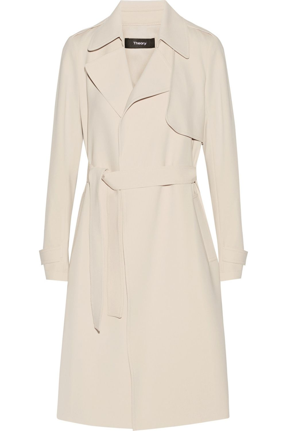 "<p>Theory trench, $595, <a href=""http://www.theory.com/OAKLANE-B/G0109402,default,pd.html?dwvar_G0109402_color=001&start=2&cgid=womens-outerwear"" target=""_blank"">theory.com</a>.</p>"
