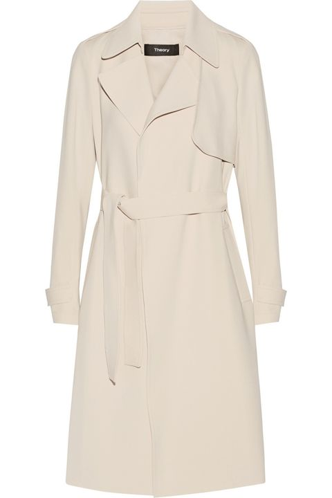 """<p>Theory trench, $595, <a href=""""http://www.theory.com/OAKLANE-B/G0109402,default,pd.html?dwvar_G0109402_color=001&start=2&cgid=womens-outerwear"""" target=""""_blank"""">theory.com</a>.</p>"""