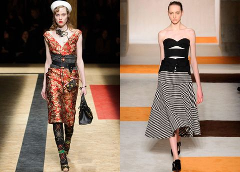 <p>Lace up lingerie over your dress à la Prada or try one as a top like Victoria Beckham.</p>