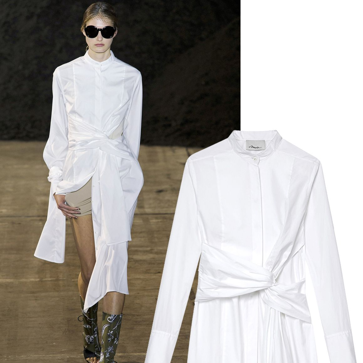 """<p>""""There is nothing sexier than a white crisp shirt. We pushed the envelope on the classic body by elongating the form and adding unexpected details. Playing with proportion and personal styling, you can wear it as a shirt or tunic, over shorts or jeans.""""—Phillip Lim</p><p>        <em><strong>3.1 Phillip Lim</strong> dress, $575, <strong><a href=""""https://shop.harpersbazaar.com/designers/0-9/31-phillip-lim/twist-detail-cutout-cotton-dress-8404.html"""" target=""""_blank"""">shopBAZAAR.com</a></strong></em><span class=""""redactor-invisible-space""""><em>.</em><br></span></p>"""