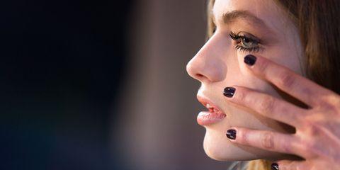Finger, Lip, Skin, Eyebrow, Eyelash, Nail, Nail care, Manicure, Organ, Beauty,