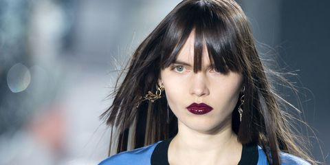 Nose, Mouth, Lip, Hairstyle, Eyebrow, Eyelash, Earrings, Black hair, Jewellery, Jaw,