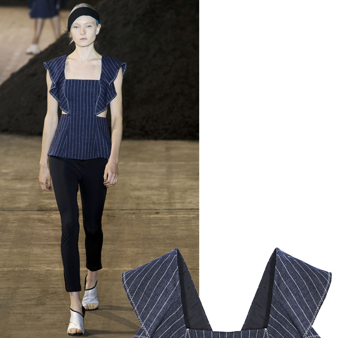 """<p>""""Pinstripes are timeless and effortlessly cool, however, we wanted to kick things around so we applied the pinstripe to dress shapes with revealing side openings, lightweight linen tops, and sporty separates—new essentials for spring days in the sun.""""—Phillip Lim  </p><p>        <em><strong>3.1 Phillip Lim </strong>top, $495, <strong><a href=""""https://shop.harpersbazaar.com/designers/0-9/31-phillip-lim/pinstripe-cascading-sleeve-top-8426.html"""" target=""""_blank"""">shopBAZAAR.com</a></strong></em><span class=""""redactor-invisible-space""""><em>.</em><br></span></p>"""