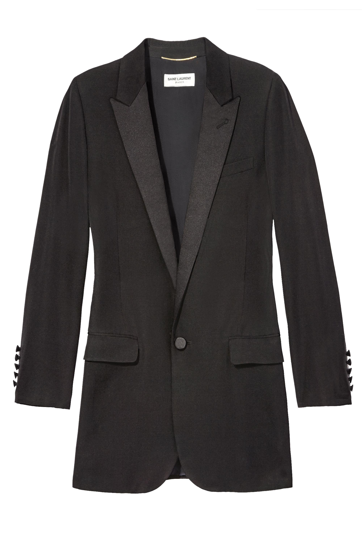"<p>""I love my new Saint Laurent scarf and jacket.""</p><p><em>Saint Laurent by Hedi Slimane jacket, $3,550, 212-980-2970.</em><em></em></p>"