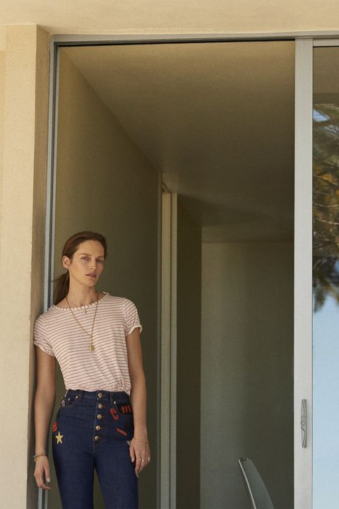 """<p><strong>Maxstudio.com </strong>shirt, $78, <a href=""""http://maxstudio.com"""" target=""""_blank"""">maxstudio.com</a>; <strong>Sonia Rykiel </strong><span class=""""redactor-invisible-space"""">jeans, $800, Saks Fifth Avenue, 877-551-7257; <strong>Jennifer Alfano </strong><span class=""""redactor-invisible-space"""">pendant, $950, and chain, $400, <a href=""""http://jenniferalfano.com"""" target=""""_blank"""">jenniferalfano.com</a>; <strong>Turner & Tatler </strong><span class=""""redactor-invisible-space""""><strong>by Cindy Chaplin </strong><span class=""""redactor-invisible-space"""">necklace, $1,900, Neiman Marcus, 888-888-4757; <strong>Arik Kastan </strong></span></span></span></span>bracelet, $3,476, <a href=""""http://twistonline.com"""" target=""""_blank"""">twistonline.com</a>; <strong>Zoë Chicco </strong>bangle, $1,150, <a href=""""http://zoechicco.com"""" target=""""_blank"""">zoechicco.com</a>; <strong>Stuart Weitzman </strong><span class=""""redactor-invisible-space""""> shoes, $425, 212-750-2555. </span></p>"""