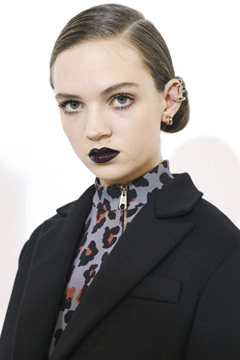<p>Dior's sultry black-lipped models also sported ears full of accessories. It's time for more, more, more.</p>
