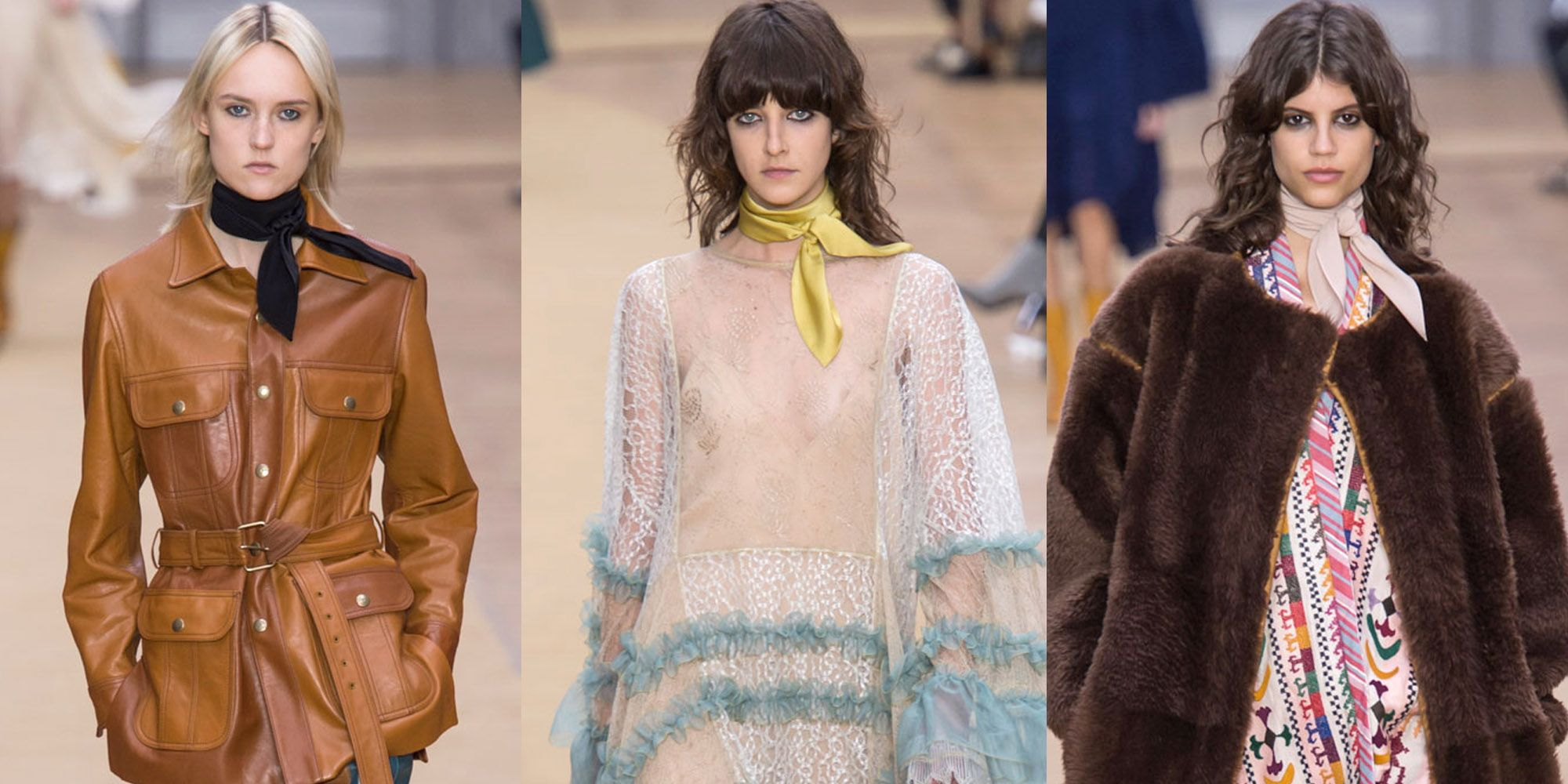 <p>Wrap a scarf around your neck and pull the ends to the front for instant Chloé girl coolness.</p>