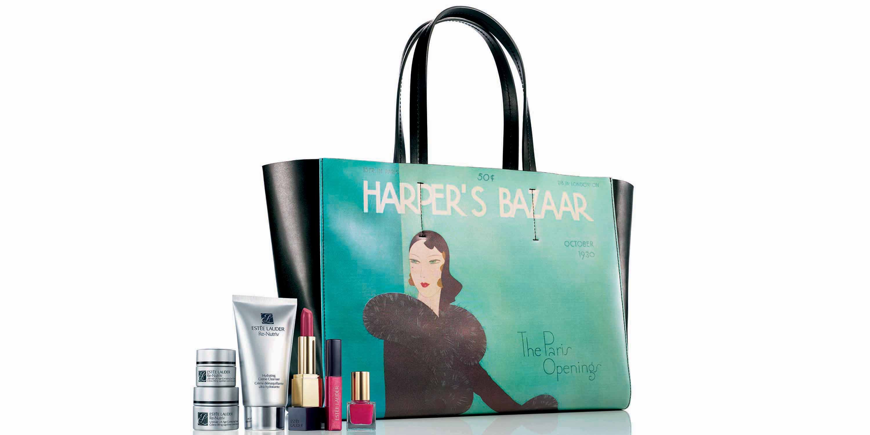 Estée Lauder Honors Iconic Bazaar Covers With Limited Edition Bags Estee X Harper S