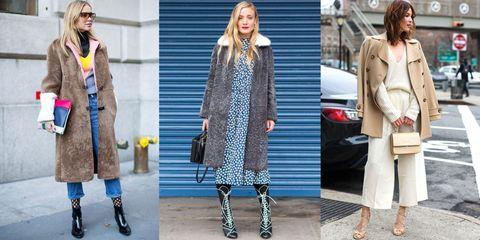 Clothing, Hair, Footwear, Leg, Coat, Winter, Textile, Bag, Outerwear, Street fashion,