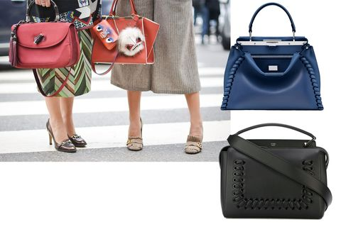 "<p>A bag that holds everything you need is a must—fashion week and beyond.</p><p><em><strong>Fendi</strong> ""Peekaboo"" bag, $4,500, <strong><a href=""https://shop.harpersbazaar.com/designers/f/fendi/large-peekaboo-8691.html"" target=""_blank"">shopBAZAAR.com</a></strong>&#x3B; <strong>Fendi</strong> ""Dot Com"" bag, $2,900, <strong><a href=""https://shop.harpersbazaar.com/designers/f/fendi/dot-com-threading-bag-8738.html"" target=""_blank"">shopBAZAAR.com</a></strong>.</em><span class=""redactor-invisible-space""><em></em><br></span></p>"
