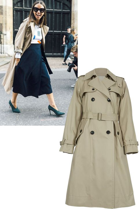 """<p>Not only is this tried-and-true classic very of-the-moment, it's an investment you will never regret.</p><p><em><strong>Marc Jacobs </strong>belted trench coat, $795, <strong><a href=""""https://shop.harpersbazaar.com/designers/m/marc-jacobs/belted-trench-coat-6950.html"""" target=""""_blank"""">shopBAZAAR.com</a></strong>. </em></p>"""