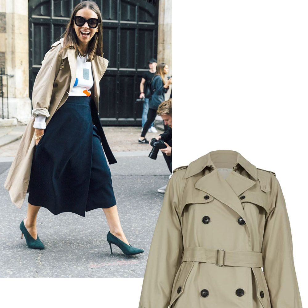 "<p>Not only is this tried-and-true classic very of-the-moment, it's an investment you will never regret.</p><p><em><strong>Marc Jacobs </strong>belted trench coat, $795, <strong><a href=""https://shop.harpersbazaar.com/designers/m/marc-jacobs/belted-trench-coat-6950.html"" target=""_blank"">shopBAZAAR.com</a></strong>. </em></p>"