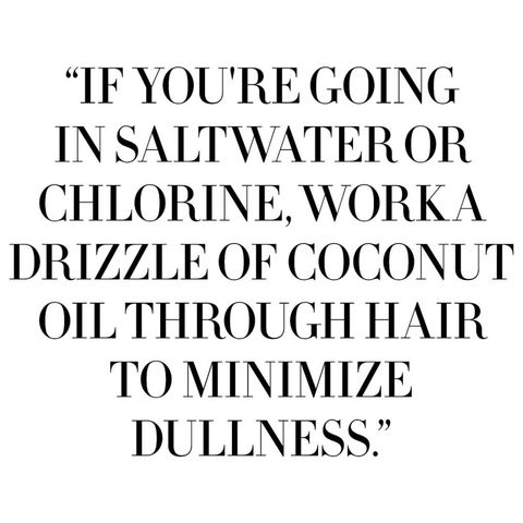 "<p>Every time you wash your hair, the water swells and lifts the cuticle, allowing precious pigments to slip away, and leaving color less vibrant. ""Wash your hair every other day, at the max, and on in-between days, a dose of a dry shampoo will disguise oiliness at the root,"" says  L'Oréal hairstylist Mara Roszak. ""And if you're going in saltwater or chlorine, work a drizzle of coconut oil through hair to minimize dullness.""</p>"