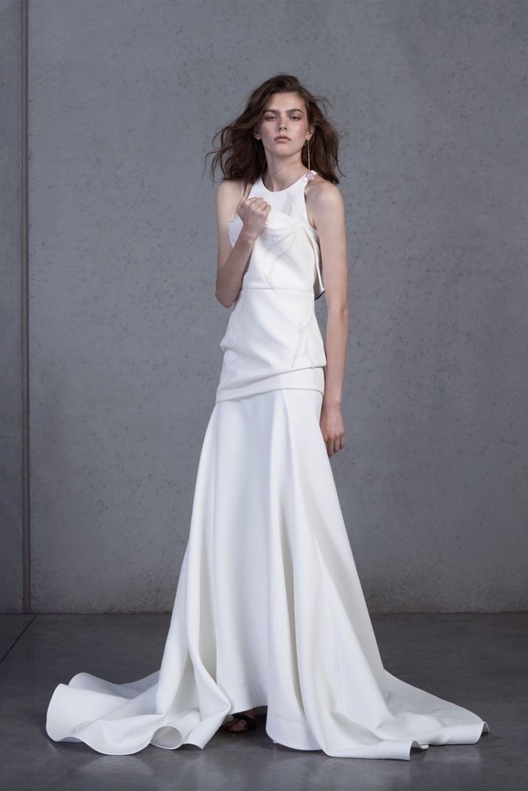 39 new bridal designers the best new bridal gown designers neoprene mesh ballgowns velvet flocked dots on organza draped skirts and horsehair trimmed tops are only some of the innovative details designer toni ombrellifo Gallery