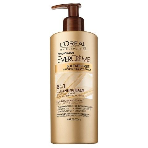 "<p>On days in between shampooing and conditioning, consider washing with a cleansing conditioner like <a href=""http://www.lorealparisusa.com/en/products/hair-care/products/cleansing-conditioner/hair-expertise-evercreme-cleansing-balm.aspx""><strong>L'Oréal  Paris EverCreme Cleansing Balm</strong></a><strong> </strong>($12). This sulfate-free, low-lather conditioner transforms into a gentle cleanser that cleans without stripping and restores moisture without weighing hair down. </p>"