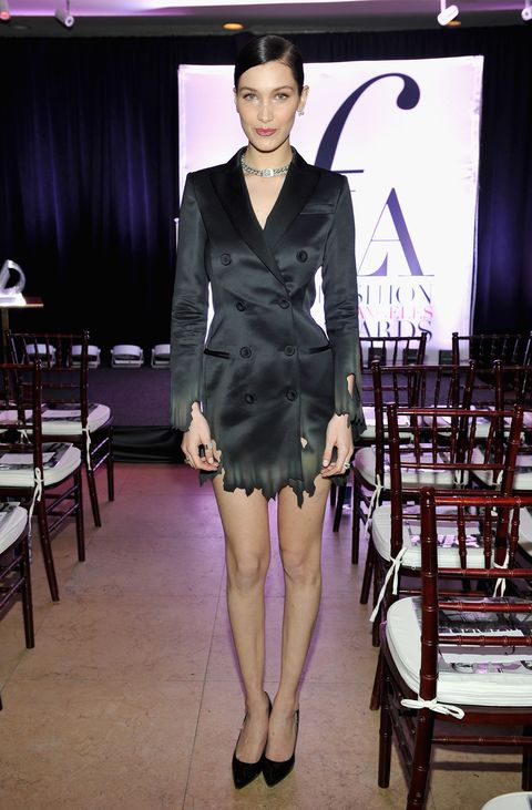 """WEST HOLLYWOOD, CA - MARCH 20:  EXCLUSIVE COVERAGE Model of the Year Honoree Bella Hadid attends The Daily Front Row """"Fashion Los Angeles Awards"""" 2016 at Sunset Tower Hotel on March 20, 2016 in West Hollywood, California.  (Photo by Donato Sardella/Getty Images for The Daily Front Row)"""