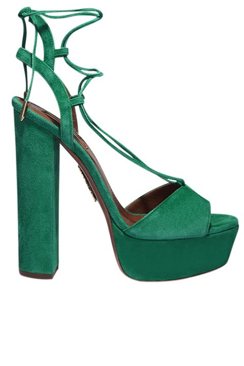 <p><strong>Aquazzura </strong>sandals, $775, Barney's New York, 888-8-BARNEYS.</p>