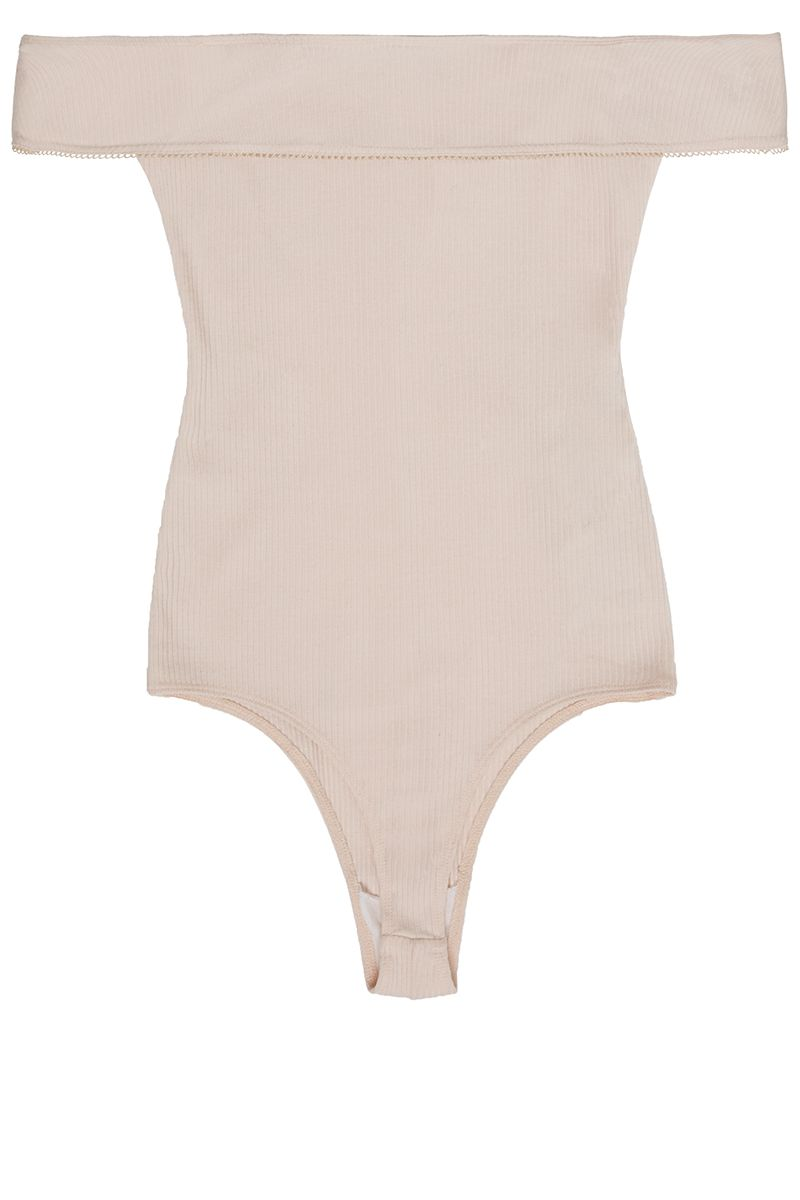 "<p><strong>Reformation</strong> bodysuit, $98, <a href=""https://www.thereformation.com/products/classon-bodysuit-black"" target=""_blank"">thereformation.com</a>.</p>"