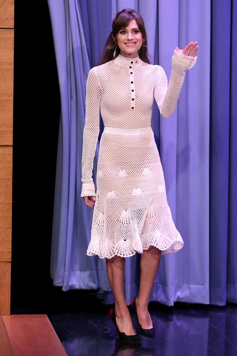 THE TONIGHT SHOW STARRING JIMMY FALLON -- Episode 0439 -- Pictured: Actress Allison Williams arrives on March 23, 2016 -- (Photo by: Andrew Lipovsky/NBC/NBCU Photo Bank via Getty Images)
