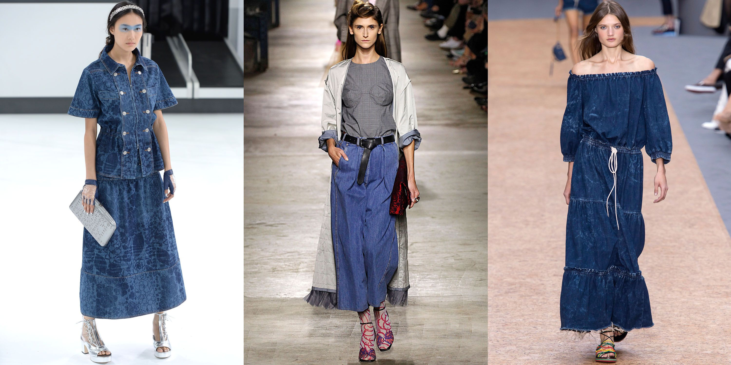 <p>Traditional downtown pieces got a high-fashion run on the spring 2016 runway. Labels such as Chanel, Dries Van Noten and Chloé presented an elevated version of jackets, pants and bohemian dresses, getting us in the mood for a full-on denim wardrobe. </p><p><span></span></p>