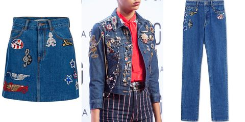 "<p>Dare to go decorative with denim as seen at the Marc Jacobs show. Patches, beading, and embroidery, embellished each piece.<br></p><p><em><strong>Marc Jacobs </strong>skirt, $495, <a href=""https://shop.harpersbazaar.com/designers/m/marc-jacobs/embroidered-denim-mini-skirt-8435.html"" target=""_blank""><strong>shopBAZAAR.com</strong></a></em><em>; <strong>Marc Jacobs</strong> jean, $575, <a href=""https://shop.harpersbazaar.com/designers/m/marc-jacobs/patch-denim-jeans-8792.html"" target=""_blank""><strong>shopBAZAAR.com</strong></a></em><span class=""redactor-invisible-space""><em><a href=""https://shop.harpersbazaar.com/designers/m/marc-jacobs/patch-denim-jeans-8792.html""></a>.</em></span><br></p>"