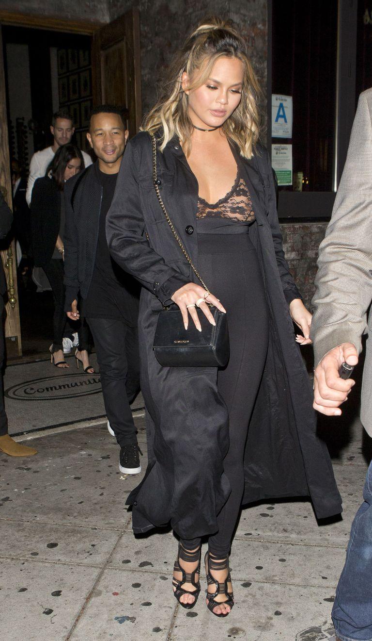 Chrissy Teigen's Best Maternity Looks