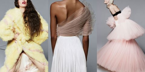 Clothing, Shoulder, Textile, Joint, White, Dress, Pink, Formal wear, Style, Waist,