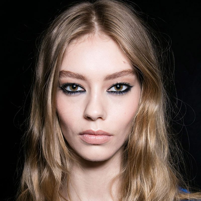 <p>There are only two things you need your eyeliner to be this season: black and greasy. When it comes to technique, it's a free-for-all. Stay safe with a classic flick, as seen at Nicole Miller, or a soft smudge&#x3B; go for the piercing stare of a Versace girl (left) by rimming your waterlines in ink&#x3B; or take a dramatically dark turn and don't stop 'til you hit the brow.</p>