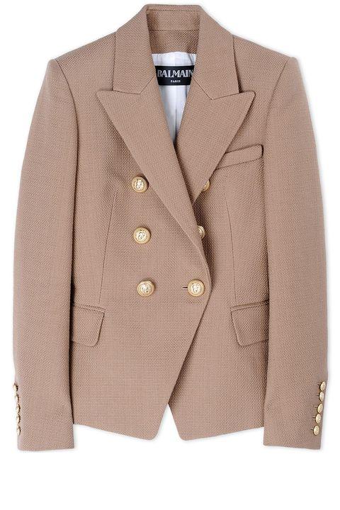 "<p>          <strong>Balmain</strong> blazer, $2285, <strong><a href=""https://shop.harpersbazaar.com/designers/b/balmain/blazer-8817.html"" target=""_blank"">shopBAZAAR.com</a></strong>.</p>"