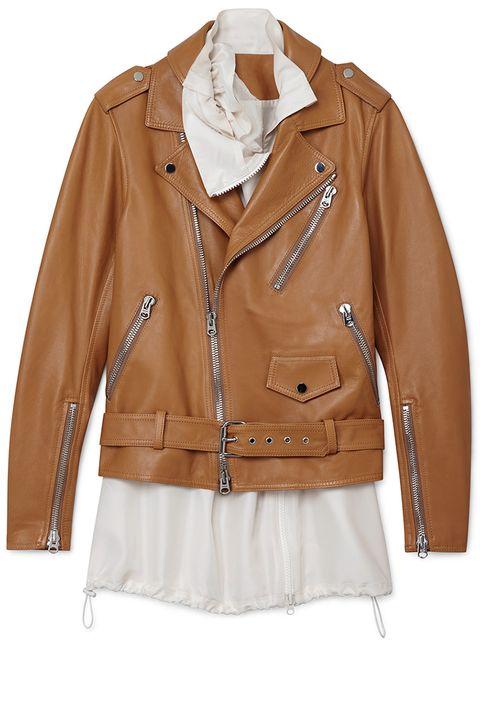 """<p><strong>3.1 Phillip Lim</strong> biker jacket, $1795, <strong><a href=""""https://shop.harpersbazaar.com/designers/0-9/31-phillip-lim/biker-jacket-8441.html"""" target=""""_blank"""">shopBAZAAR.com</a></strong>. </p>"""