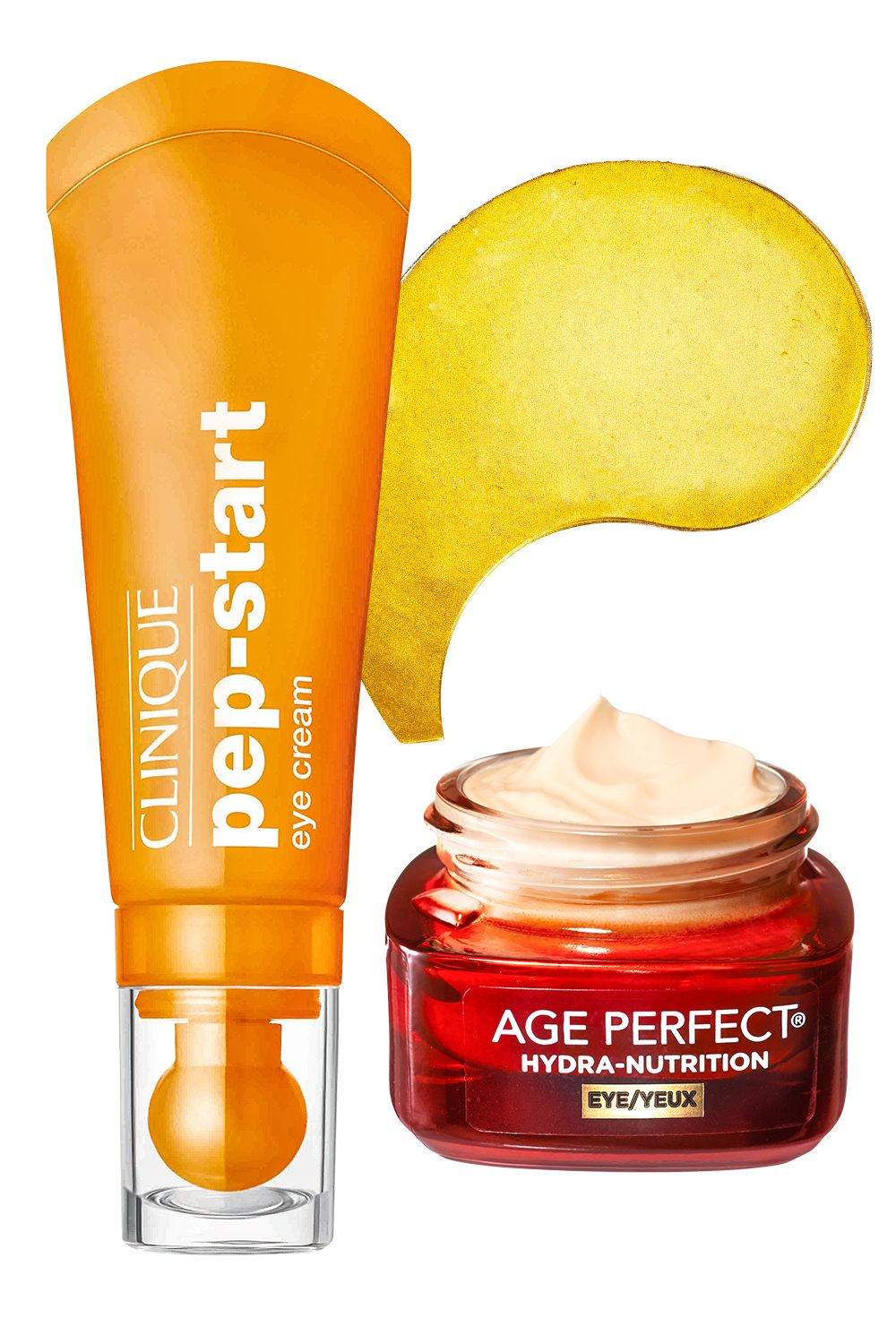 """<p>""""Your eyes are the greatest focus on your face, making them the smartest investment,"""" says Palm. Caffeine in Clinique's cream and Peter Thomas Roth's patches helps relieve puffiness, while deep moisturizers like shea butter in L'Oréal Paris's balm plump fine lines.</p><p><strong>Peter Thomas Roth</strong> 24K Gold Pure Luxury Lift & Firm Hydra-Gel Eye Patches, $75 for 60, <a href=""""http://www.ulta.com/ulta/browse/productDetail.jsp?productId=xlsImpprod13951005&skuId=2301905&cmpid=PS_Non!google!Product_Listing_Ads&cagpspn=pla&CAWELAID=330000200000506814&catargetid=330000200000199430&cadevice=c&gclid=CjwKEAjwlfO3BRDR4Pj_u-iO2U0SJAD88y1SIRYybwtpUumXHSi7CFPhBJbjXyXSur7Vp3pUDEKRHxoC3ufw_wcB"""" target=""""_blank"""">ulta.com</a>; <strong>Clinique</strong> Pep-Start Eye Cream, $27, <a href=""""http://www.sephora.com/pep-start-eye-cream-P403817?skuId=1774819&browserdefault=true&om_mmc=ppc-GG&mkwid=syvo2GN0V&pcrid=56697993399&pdv=c&site=_search&country_switch=&lang=en&gclid=CjwKEAjwlfO3BRDR4Pj_u-iO2U0SJAD88y1SGqY1XhKDA7IvtLREIJQvJRlceuwhjzomiQqPKAT-ZBoCxcbw_wcB"""" target=""""_blank"""">sephora.com</a>; <strong>L'Oréal Paris </strong>Age Perfect Hydra-Nutrition Eye Balm, $20, <a href=""""http://www.drugstore.com/products/prod.asp?pid=572552&catid=182918&aid=338666&aparam=572552&kpid=572552&CAWELAID=120142990000284701&CAGPSPN=pla"""" target=""""_blank"""">drugstore.com</a>. </p>"""
