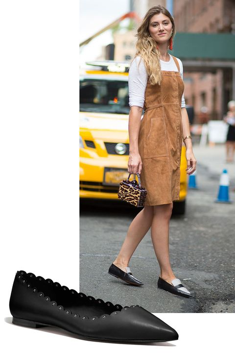 "<p>Not every fashion girl wears sky-high heels. A chic, classic pair of pointy flats can be just as fashion-forward as a strappy stiletto. </p><p><em>Coach Jill Flat, $175, </em><a rel=""noskim"" href=""http://www.coach.com/coach-designer-ballet-flats-jill-flat/Q7949.html?CID=D_B_HBZ_10593"" target=""_blank""><em>coach.com</em></a></p>"