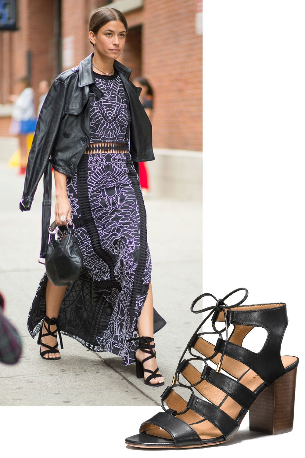 "<p>You can't ever go wrong with a plain black high-heeled sandal, but a pair that laces gives any outfit an instant upgrade. </p><p><em>Coach Larissa Heel, $225, <a rel=""noskim"" href=""http://www.coach.com/coach-designer-sandals-larissa-heel/Q8266.html?CID=D_B_HBZ_10595"" target=""_blank"">coach.com</a></em></p>"