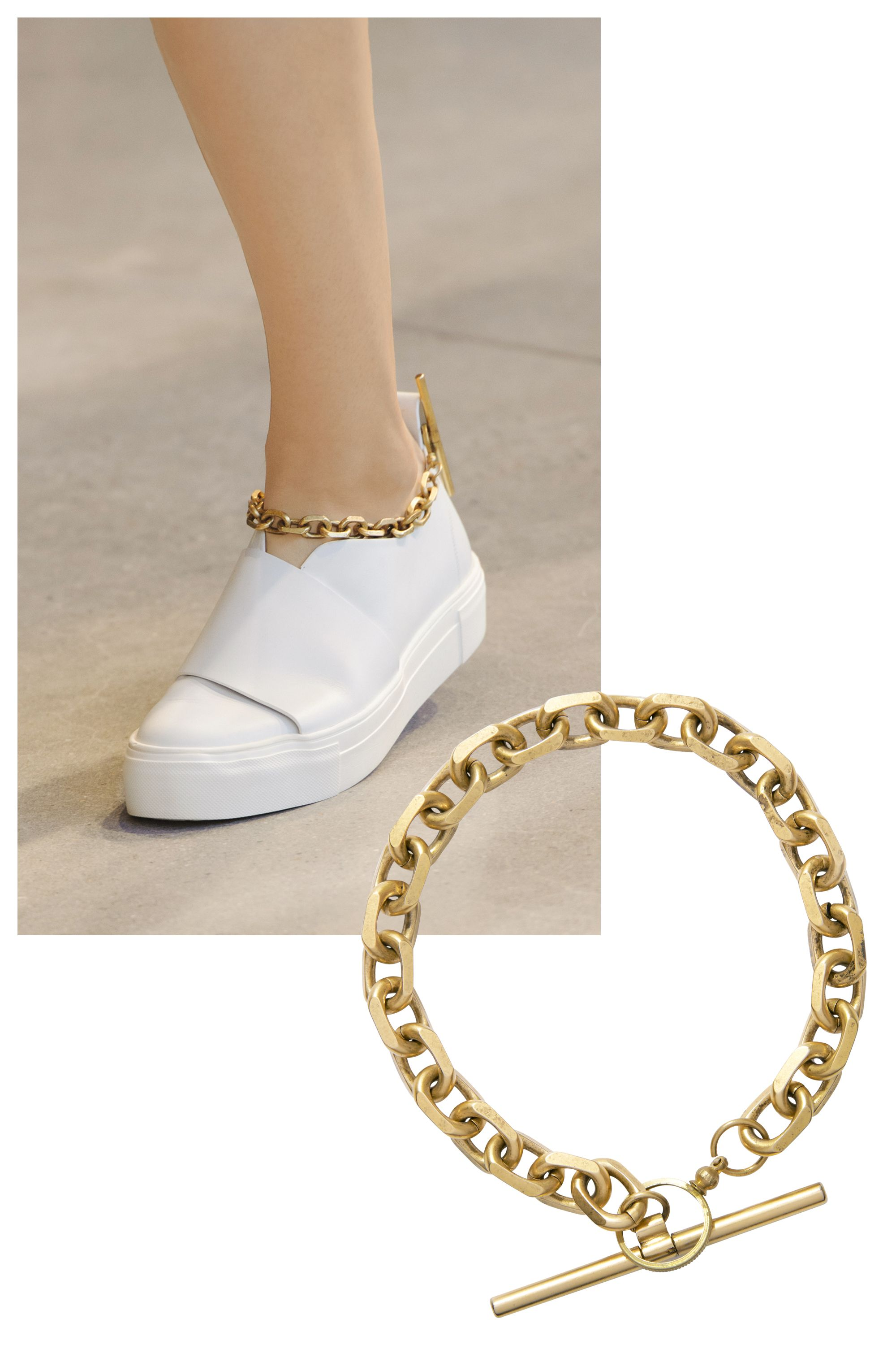 <p>Calvin Klein creative director Francisco Costa accessorized much of his collection with chunky gold-chain ankle bracelets that are bound to start a trend for spring. How's that for a Midas touch?</p><p><strong>Calvin Klein Collection</strong> anklet, price upon request, 212-292-9000.<br></p>