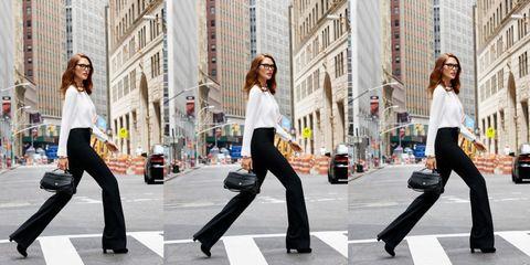 Clothing, Eyewear, Leg, Road, Urban area, Trousers, Street, Infrastructure, Photograph, Standing,