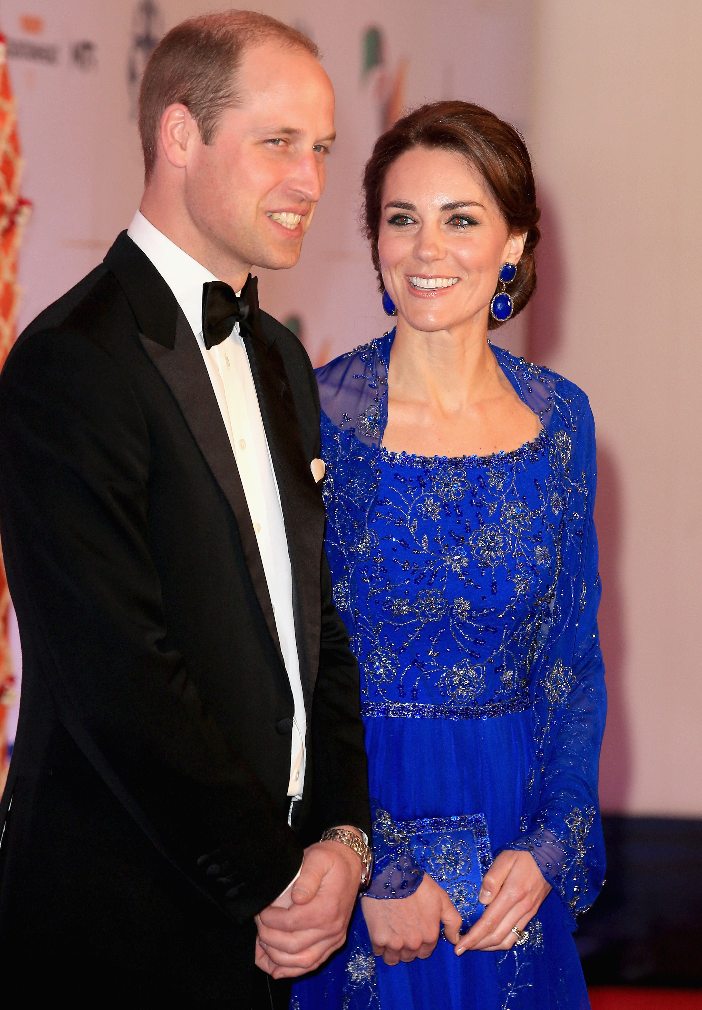 Kate Middletons Outfits From Her Visit To India And Bhutan Embroidery Blouse In Blue Beatrice Clothing Pictures Of The Royal Tour