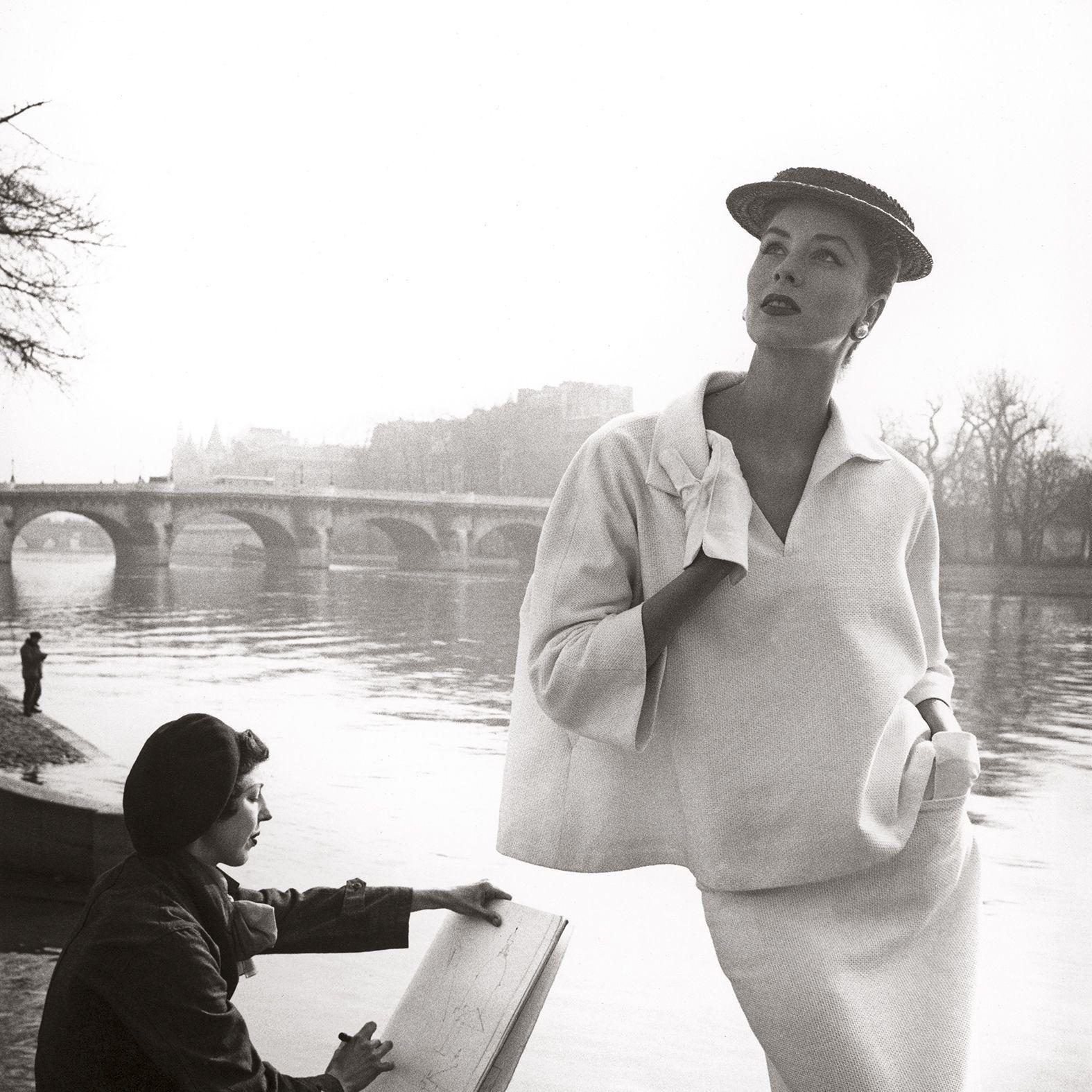 <p><em>Louise Dahl-Wolfe, Suzy Parker by the Seine, costume by Balenciaga, Paris, 1953, from Louise Dahl-Wolfe (Aperture, 2016) </em></p>