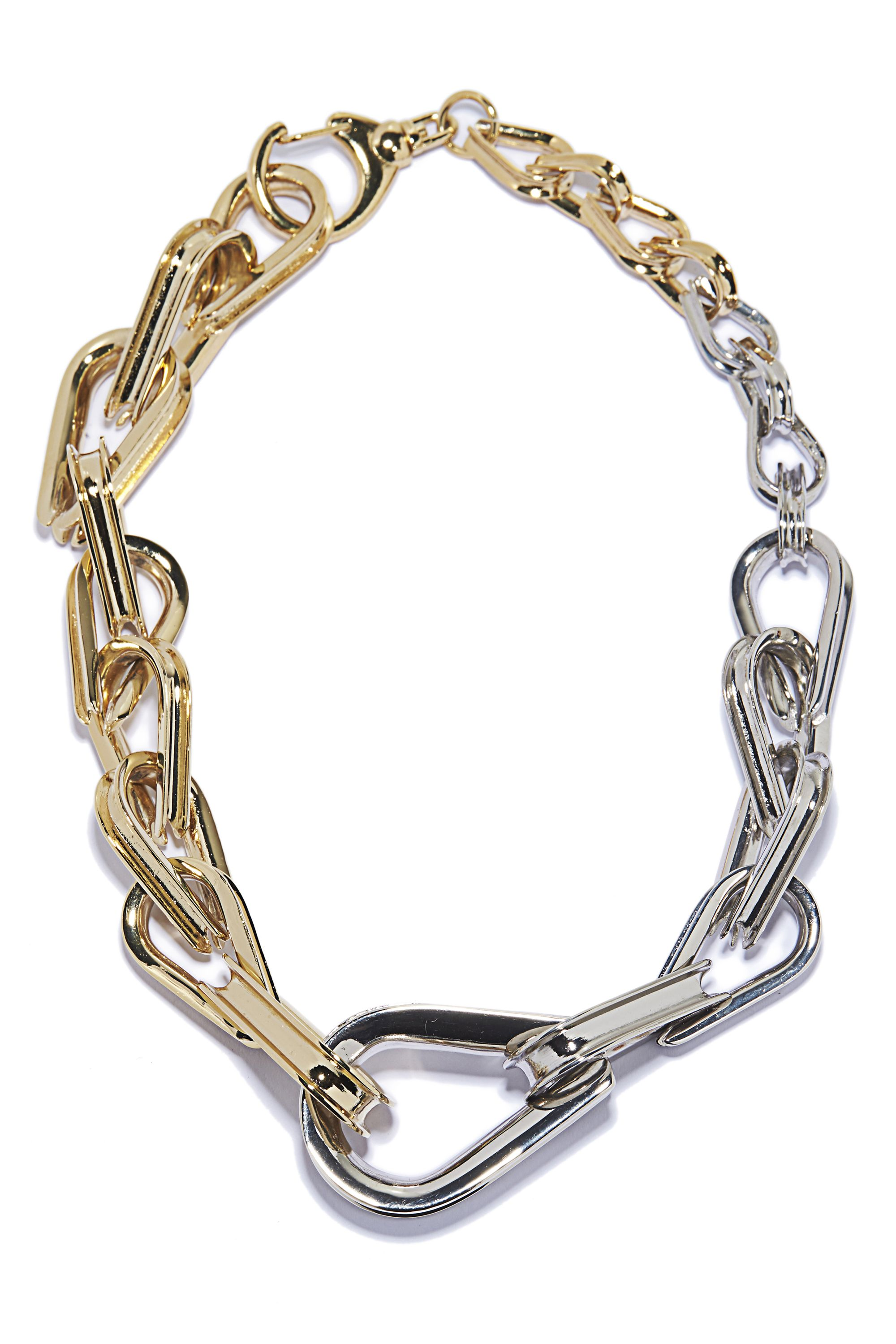"""<p><strong>Annelise Michelson </strong>choker, $995, <a href=""""http://www.annelisemichelson.com/ellipse/chain-choker"""" target=""""_blank"""">annelisemichelson.com</a>. </p>"""