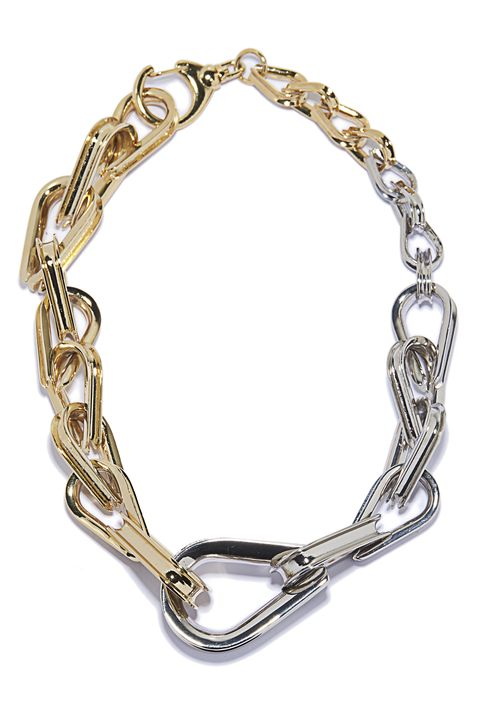 "<p><strong>Annelise Michelson </strong>choker, $995, <a href=""http://www.annelisemichelson.com/ellipse/chain-choker"" target=""_blank"">annelisemichelson.com</a>. </p>"