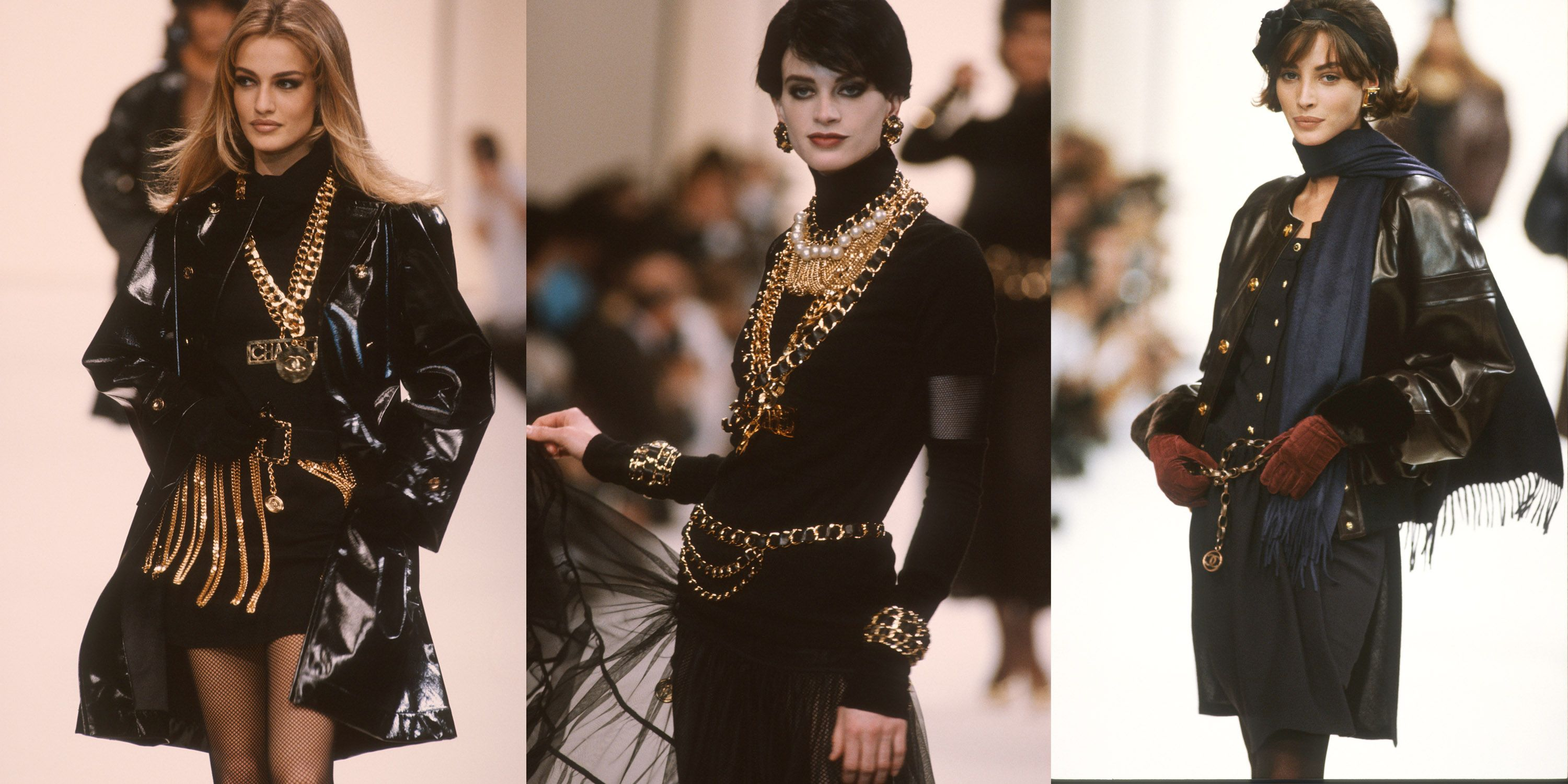 <p>The collection that sparked a bevy of biker babes from LA to the Upper East Side did it all with black leather and lots of chains. </p>