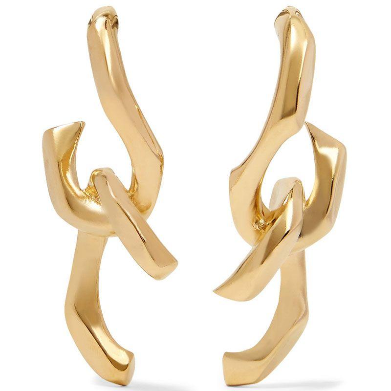 "<p>My jewelry of choice is definitely a statement earring. Parisian designer Annelise Michelson has options in spades.</p><p><em>Annelise Michelson earrings, $492, <a href=""https://www.net-a-porter.com/us/en/product/690747/Annelise_Michelson/dechainee-gold-plated-earrings"" target=""_blank"">net-a-porter.com</a>.</em><br></p>"